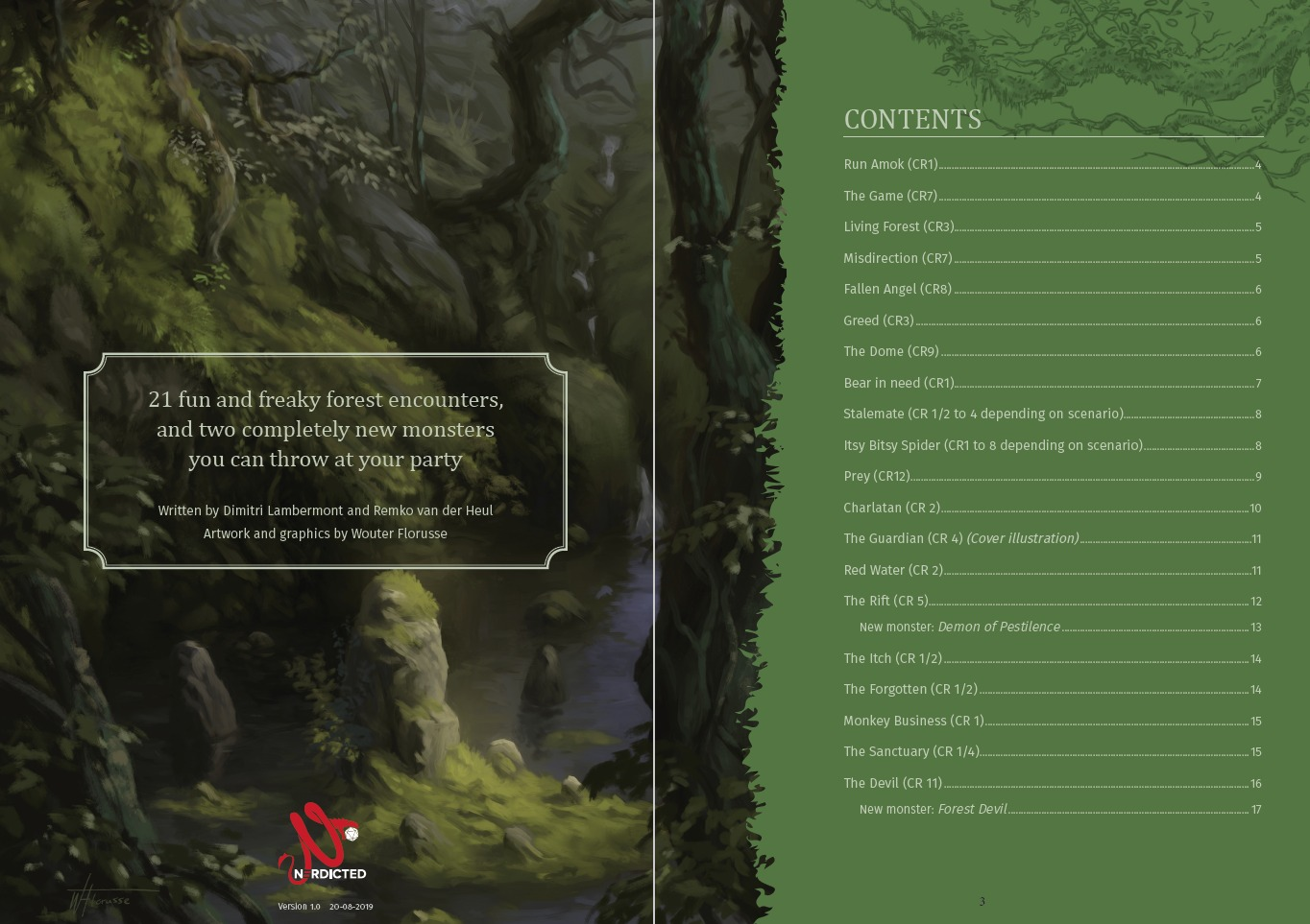 21 Freaky Forest Encounters Table of Contents