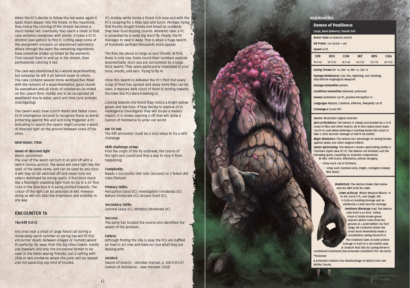 21 Freaky Forest Encounters Demon of Pestilence
